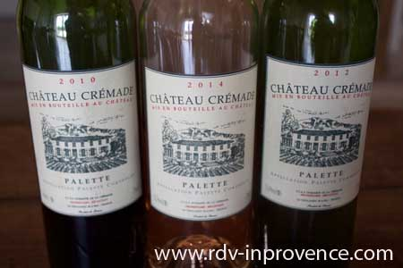 Chateau Cremade appellation Palette